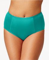Kenneth Cole Reaction Plus Size High-Waist Bikini Bottoms