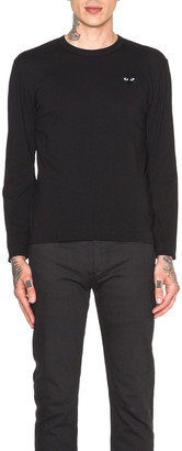 Comme des Garcons Black Emblem Cotton Long Sleeve Tee in Black | FWRD