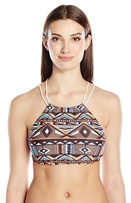 Sunsets Women's Swim Systems Gypsy High Neck Halter Bikini Top Printed