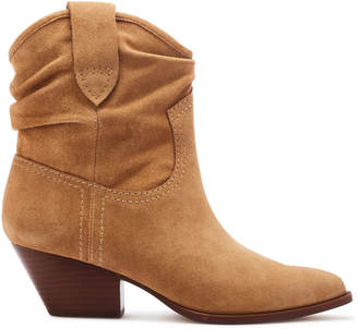 Rachel Zoe Clay Suede Western-Inspired Ankle Boots