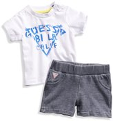 GUESS Logo Tee and Shorts Set (0-12m)