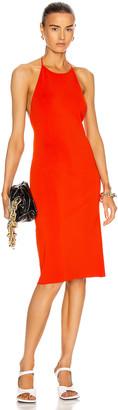 Bottega Veneta Jersey Open Back Dress in Orange | FWRD