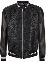 Alexander Mcqueen Lurex Leopard Varsity Jacket