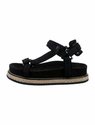 Moncler Suede Sandals Black