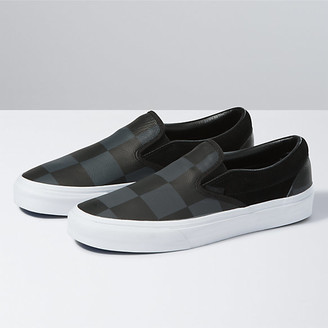 Vans Leather/Suede Check Classic Slip-On