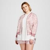 Victoria Beckham for Target Women's Plus Blush Floral Jacquard Bomber Jacket