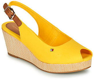 Tommy Hilfiger ICONIC ELBA SLING BACK WEDGE women's Sandals in Yellow