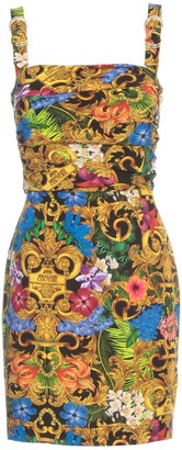 Versace Short Pencil Dress Thin Strap W/buckle