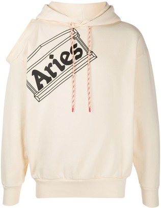 Aries Logo Print Hoodie