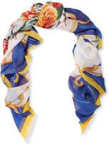 Dolce & Gabbana Printed Cotton-gauze Pareo