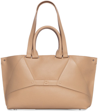 Akris Aicon Small Metallic Double-Handle Tote Bag