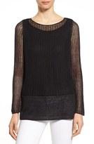 Eileen Fisher Women's Linen Open Knit Ballet Neck Top