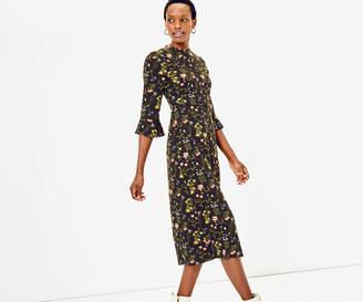 Oasis Cara Lace Trim Midi Dress