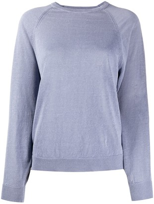 Peserico Long Sleeve Ribbed-Knit Sweater
