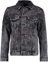 New Look ACID WASH RIPPED Denim jacket off white