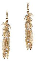 Rosantica Filigrane Leaf & Pearl Earrings