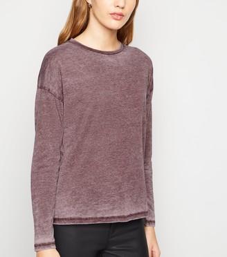New Look Burnout Long Sleeve T-Shirt