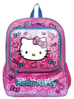 """Hello Kitty 16"""" Kids Backpack with Lunch Kit - Pink"""