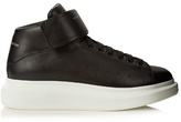 Alexander Mcqueen Raised-sole High-top Leather Trainers