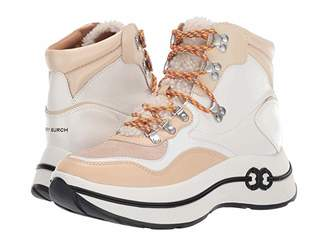 Tory Burch Gemini Link Platform Hiking Boot (Black/Black) Women's Shoes