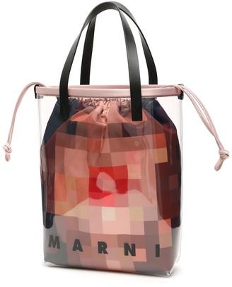 Marni Pvc Pixel Face Bag