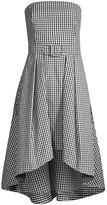 Shoshanna Tina Belted Gingham Midi Dress