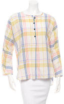Creatures of Comfort Plaid Button-Up Top w/ Tags