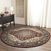 Safavieh Heritage Collection HG625A Handmade Red Wool Round Area Rug, 6 feet in Diameter ( Diameter)