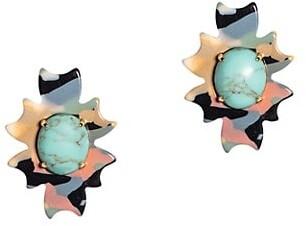 Lele Sadoughi Santa Fe Stone Button Earrings