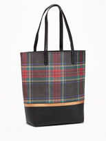 Old Navy Color-Block Tartan Tote for Women