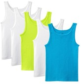 Fruit of the Loom Girls' 5-Pack Sleeveless Tank Undershirts - Multicolored