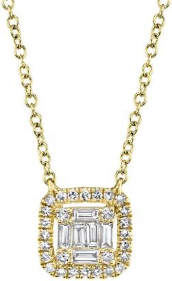 Ron Hami 14K Yellow Gold Diamond Square Pendant Necklace - 0.22 ctw