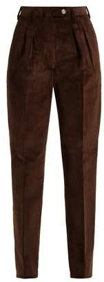 Giuliva Heritage Collection Husband Slim-leg Corduroy Trousers - Womens - Dark Brown