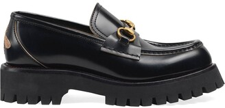 Gucci Leather lug sole loafers