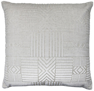 The Piper Collection Adeline 22x22 Pillow - Silver Velvet