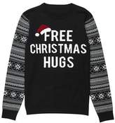 Burton Mens Black Free Christmas Hugs Novelty Jumper