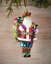 Mackenzie Childs MacKenzie-Childs Hole-In-One Santa Christmas Ornament