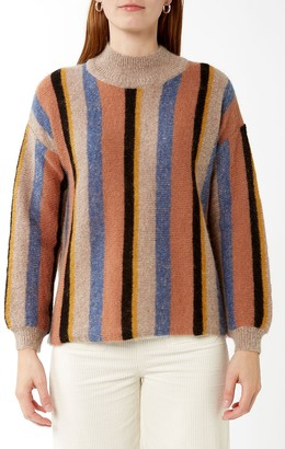Suncoo Multi Stripe Pawel Turtleneck Knit - XS