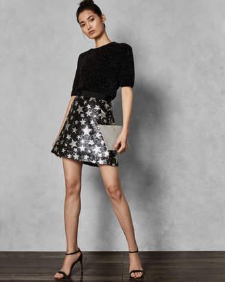 Ted Baker KHLOY 2-way sequin star mini skirt