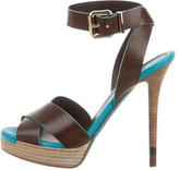 Fendi Leather Buckled Sandals
