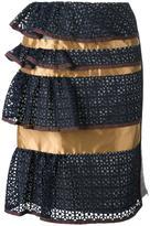 Kolor peplum skirt - women - Nylon/Wool/Cupro/Viscose - 2