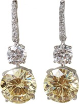 FANTASIA JEWELRY Pave Top Earrings