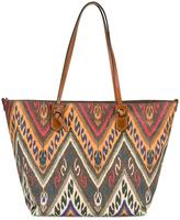 Etro embroidered detail shoulder bag - women - Cotton/Calf Leather/Polyester/PVC - One Size