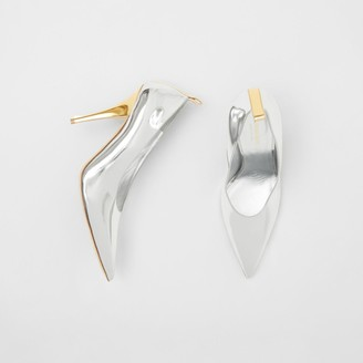 Burberry Two-tone Metallic Leather Pumps