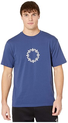 adidas Skateboarding Pinwheel Tee (Tech Indigo/Off-White) Men's Clothing