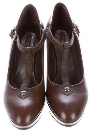 Louis Vuitton Leather Platform Wedges