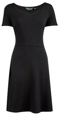 Dorothy Perkins Womens Tall Black Sweetheart Neckline Dress, Black