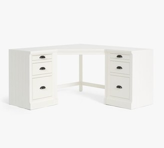 Pottery Barn Aubrey Corner Desk with File Cabinets