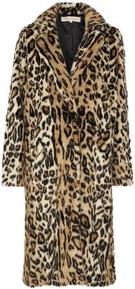 Free People Chloe leopard-print faux fur coat