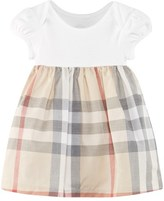 Burberry Pale Stone and Classic Check Dress